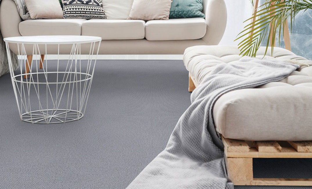 grey wool carpet in living room