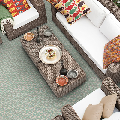 grey/green outdoor rug