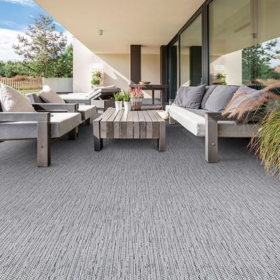 light grey outdoor rug