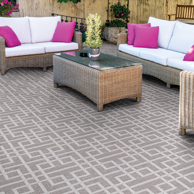 brown pattern outdoor rug