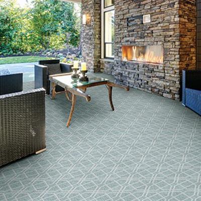 light grey patten outdoor rug