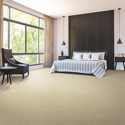 tan colored wool carpet in bedroom
