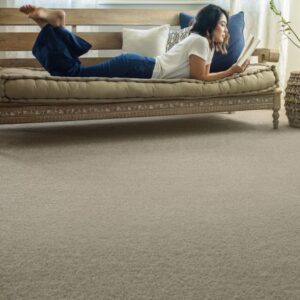tan synthetic wall to wall carpet