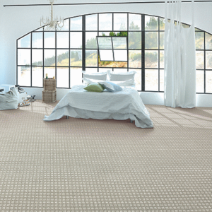 checked light colored luxury carpet