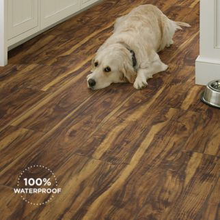 dark brown luxury vinyl plank flooring