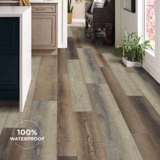 two tone luxury vinyl plank flooring