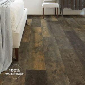 dark grey luxury vinyl plank