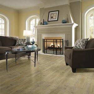 tan flooring in living room