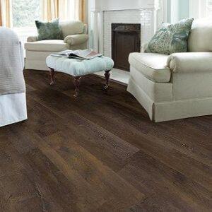 dark brown laminate flooring in living room