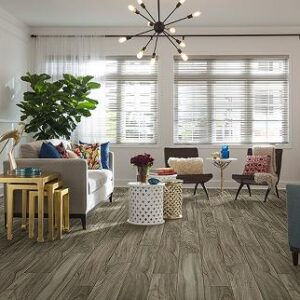 grey laminate flooring in living room