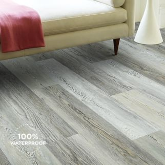 medium grey luxury vinyl plank flooring