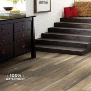 brown luxury vinyl plank flooring