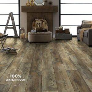 dark brown luxury vinyl plank
