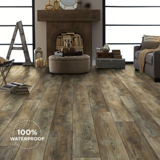 warm grey luxury vinyl plank flooring