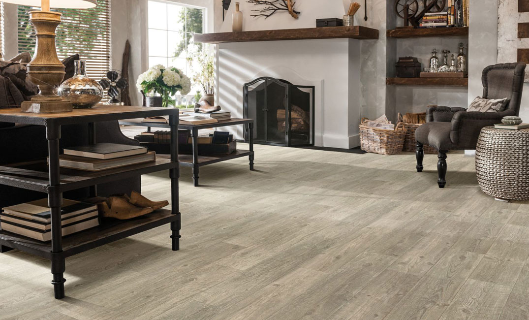 light grey sheet vinyl flooring