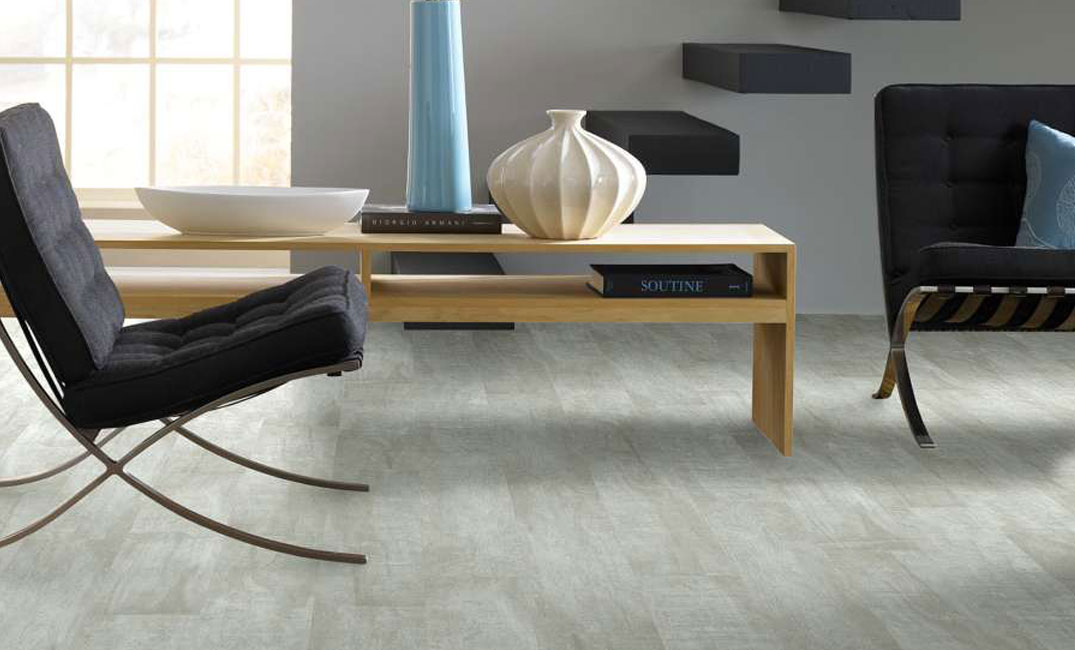 light grey luxury vinyl plank flooring