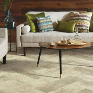 grey tones sheet vinyl in living room