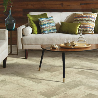 light grey patterned sheet vinyl flooring