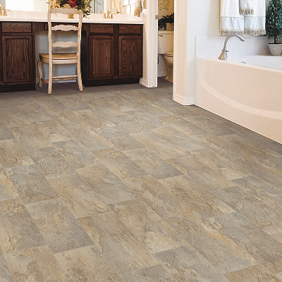 warm grey sheet vinyl flooring