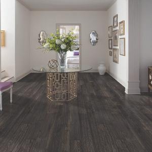 dark brown luxury vinyl tile