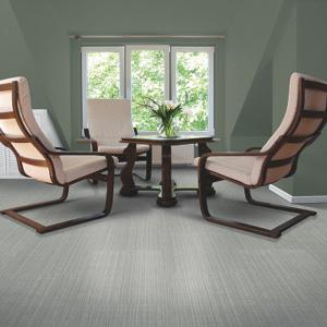 modern room with luxury vinyl tile