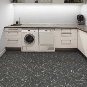 dark floor in laundry room