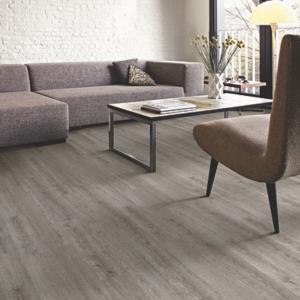 warm grey flooring in living room