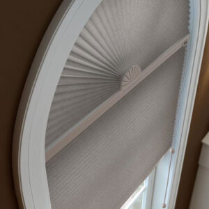 shades in rounded window