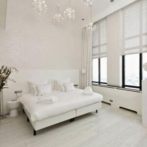 light hardwood floors in bedroom
