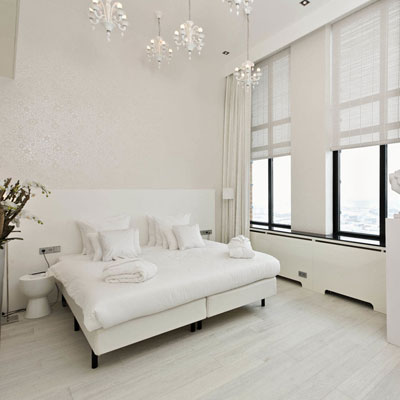 light hardwood floors in bedroom