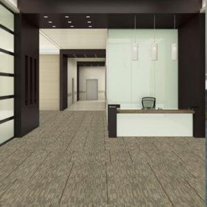 brown carpet tile in office