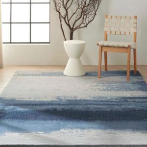 calvin klein area rug in blue tones