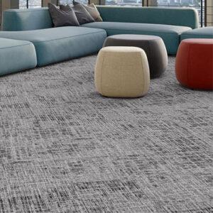 black and grey carpet tile