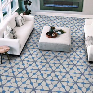 couristan blue and grey pattern carpet
