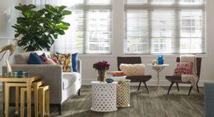 warm grey laminate flooring in living room