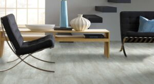 luxury vinyl plank in modern living room