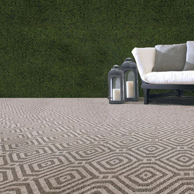 warm grey pattern indoor/outdoor rug