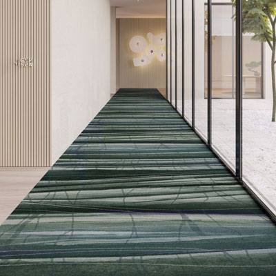 dark green pattern commercial carpet