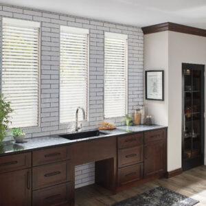 blinds in kitchen