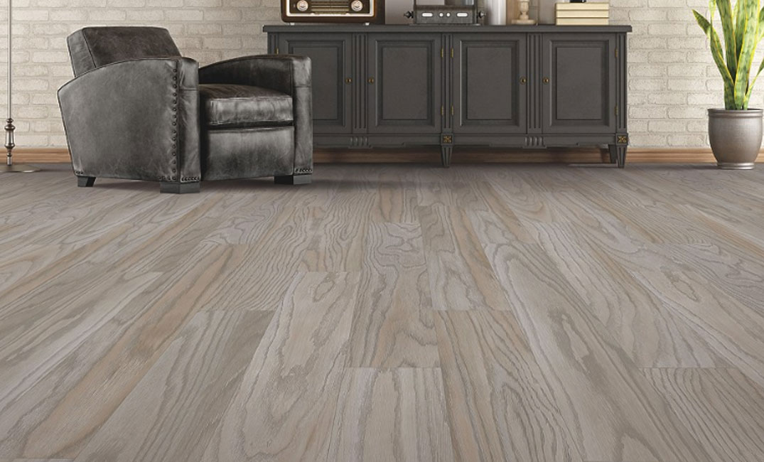 warm grey luxury vinyl tile flooring