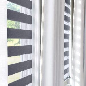 modern grey blind