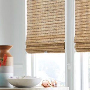 natural woven brown blind
