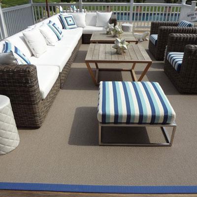 brown indoor/outdoor rug