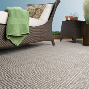 outdoor grey pattern rug with lounge