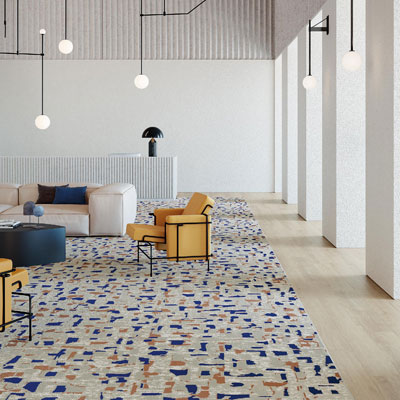 colorful pattern commercial carpet