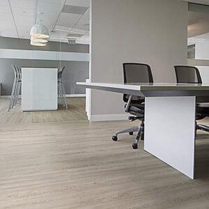light grey flooring in modern office