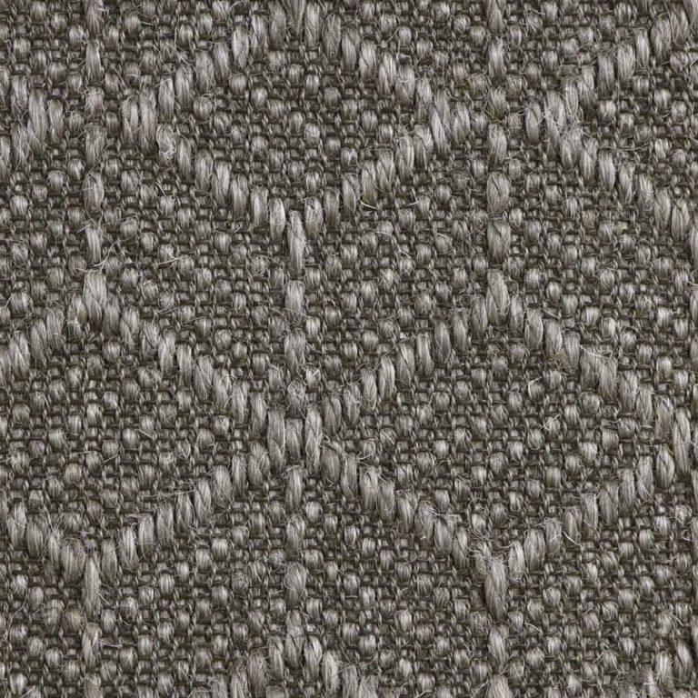 dark grey pattern sisal swatch