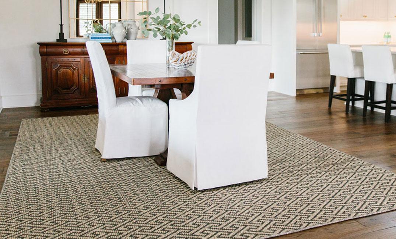 sisal area rug in living room