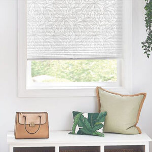 pattern shade on white window