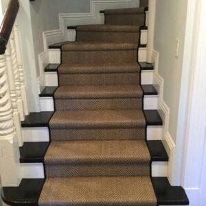 dark brown stair runner